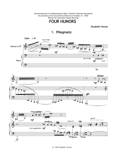 score for Four Humors